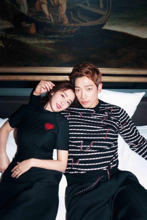 Rain dan Kim Tae Hee. (Foto: Harper's Bazaar)