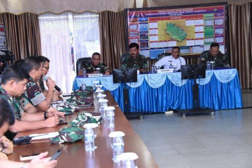 Panglima TNI rapat koordinasi bahas karhutla