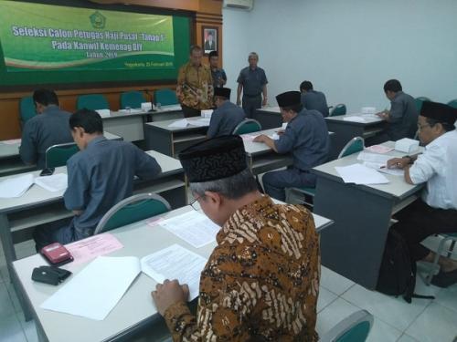Seleksi Calon Petugas Haji 2019 di Kankemenag Yogyakarta, Senin (25/2/2019). (Foto : Dok Kemenag)