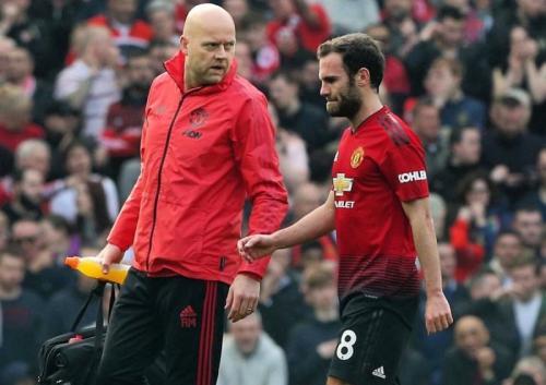 Juan Mata saat sedang membela Man United