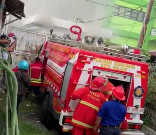 Kebakaran RSUD Saiful Anwar Malang (foto: Avirista/Okezone)