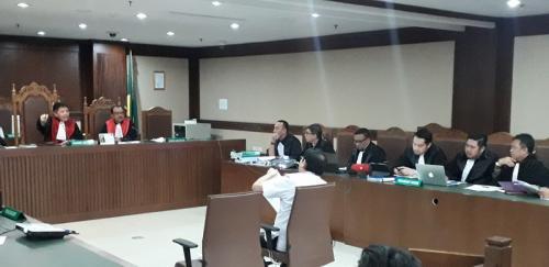 Sidang Lucas di Pengadilan Tipikor. (Dok Okezone)