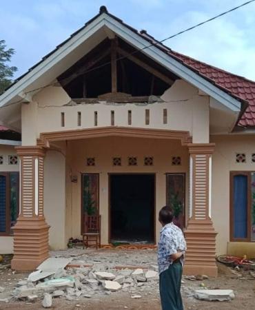 Dampak gempa di Solok Selatan. (Foto: BNPB)