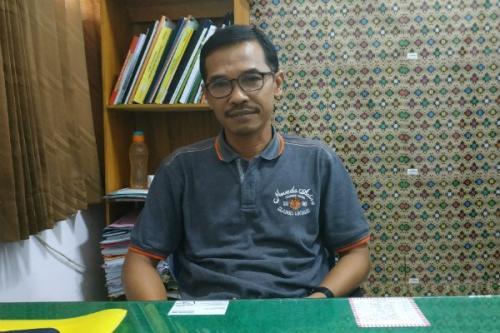 Kepala Bidang Pengelolaan Sampah Limbah B3 dan Pengembangan Kapasitas DLH Kabupaten Bantul, Karyana (foto: Harian Jogja/Kiki Luqmanul Hakim)