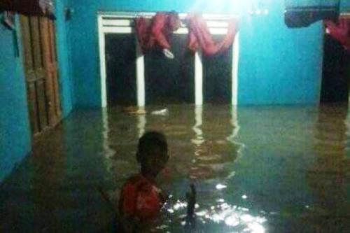 Banjir di Desa Klumutan, Kecamatan Saradan, Madiun. (Foto: Ist)