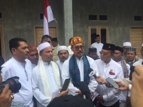 Utusan KH Ma'ruf Amin, Lukmanul Hakim, untuk sosialisasikan Jokowi-Ma'ruf di Pidie, Aceh. (Harits Tryan Akhmad/Okezone)