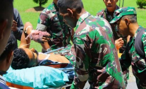 Anggota TNI korban KKB di Nduga, Papua. (Foto: Jeremias Rahadat/Antara)