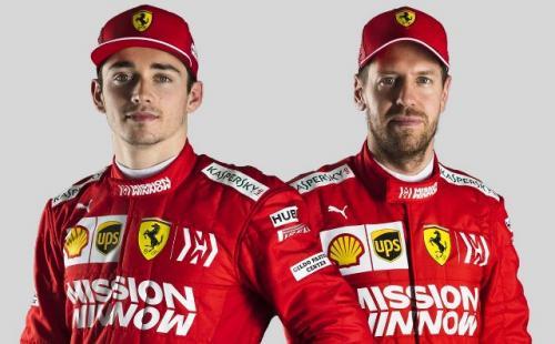 Sebastian Vettel dan Charles Leclerc