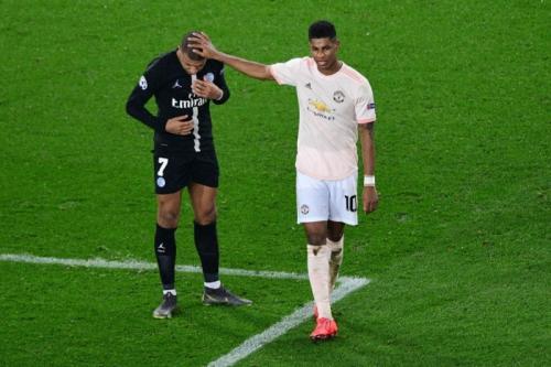 Kylian Mbappe saat kalah dari Man United