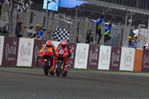 Marc Marquez vs Andrea Dovizioso (Foto: Laman resmi MotoGP)