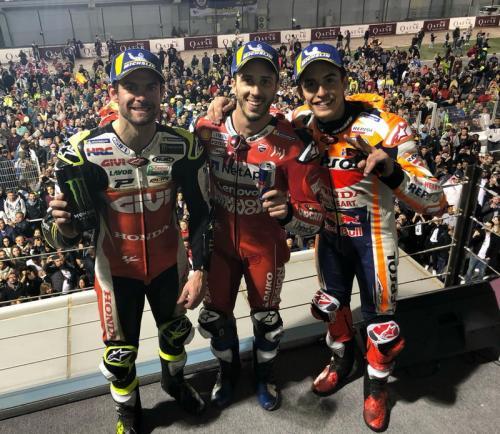 Cal Crutchlow, Andrea Dovizioso, dan Marc Marquez