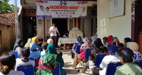 Bazar Murah Perindo di Blora, Jawa Tengah (foto: Taufik Budi/Okezone)