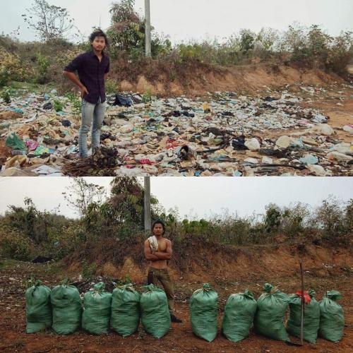 tantangan bersih bersih sampah
