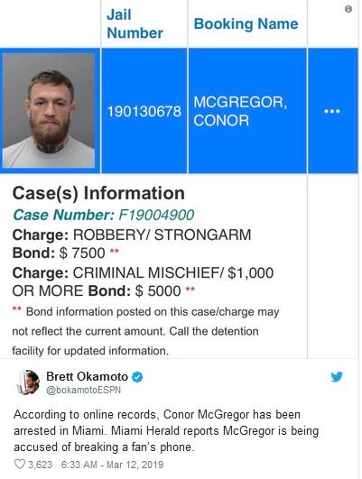Conor McGregor (Foto: Twitter/@bokamotoESPN)