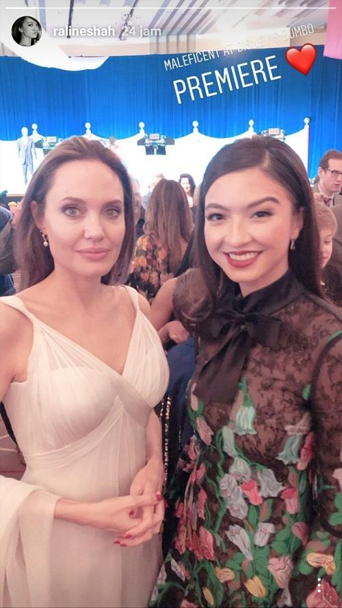 Raline Shah dan Angelina Jolie