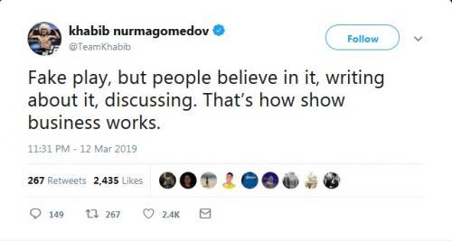 Khabib Nurmagomedov (Foto: Twitter/@TeamKhabib)