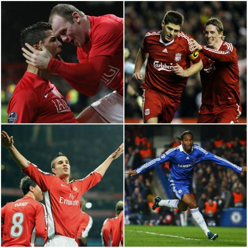 Empat wakil Inggris di perempatfinal Liga Champions 2008-2009 (Foto: Champions League/Twitter)