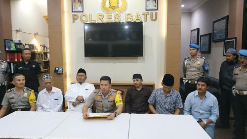 Polisi Bersama MUI dan Ulama Meluruskan Isu Kiamat Sudah Dekat (Foto: Avirista M/Okezone)