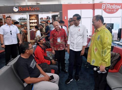 Presiden Joko Widodo di Bangka Belitung. (Foto: Fakhrizal Fakhri/Okezone)