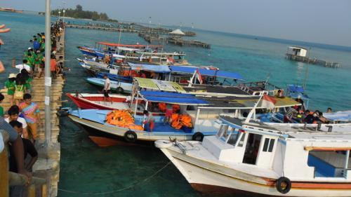Dermaga di Kepulauan Seribu