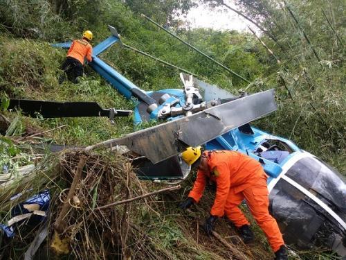 Helikopter jatuh di Tasikmalaya. (Ist)