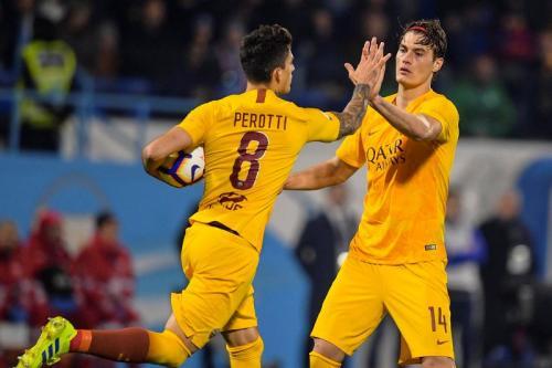 Diego Perotti sempat menyamakan kedudukan (Foto: AS Roma/Twitter)