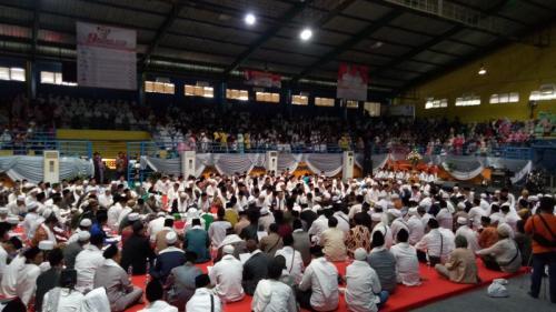 313 Ulama dan Habib Bogor, Depok, Bekasi Deklarasi Dukungan kepada Jokowi-Maruf Amin (foto: Putra RA/Okezone)