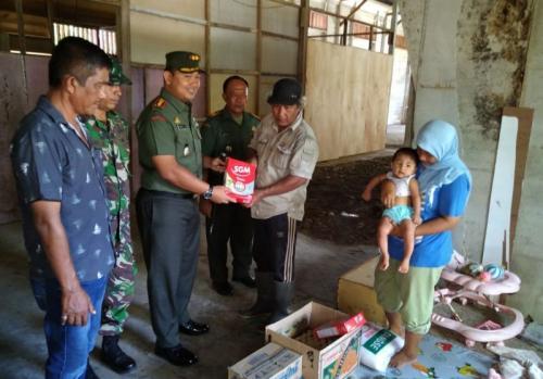 Kodim Aceh Jaya beri bantuan (Dispenad)