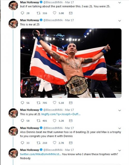 Conor McGregor vs Max Halloway di twitter