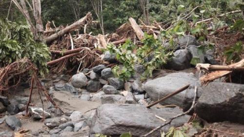 Kondisi Gunung Cycloop akibat banjir bandang. (Foto: BBC News Indonesia)