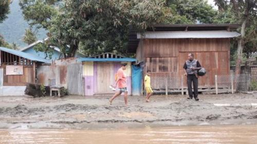 Banjir bandang Sentani. (Foto: BBC News Indonesia)