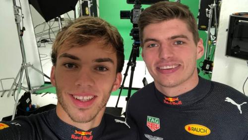Duo Red Bull Racing Pierre Gasly dan Max Verstappen (Foto: Red Bull Racing/Twitter)