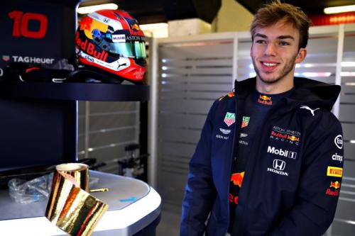 Pembalap Tim Red Bull Racing, Pierre Gasly