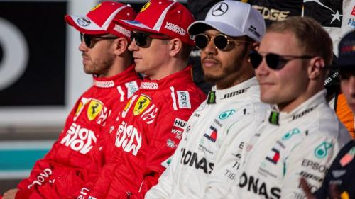 Vettel, Leclerc, Hamilton, Bottas