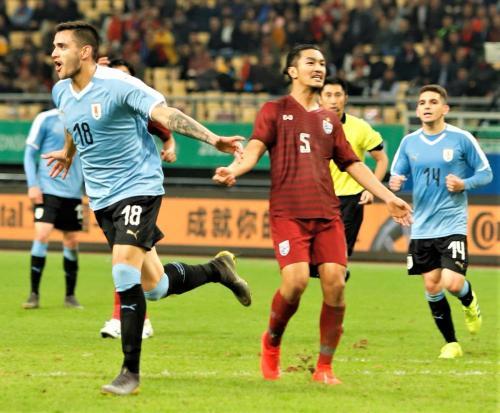 Uruguay vs Thailand (Foto: @Uruguay/Twitter)