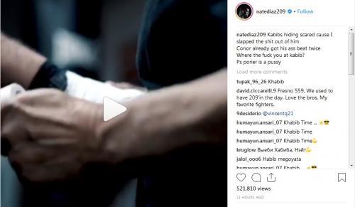 Diaz ledek Khabib, McGregor dan Piorier (Foto: Instagram/natediaz209)
