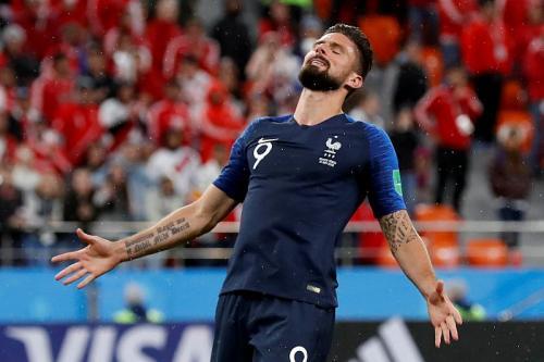 Olivier Giroud membela Timnas Prancis