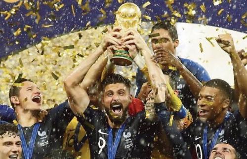 Momen Timnas Prancis saat juarai Piala Dunai Rusia 2018