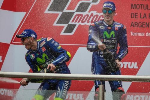 Valentino Rossi finis kedua (Foto: Laman resmi MotoGP)