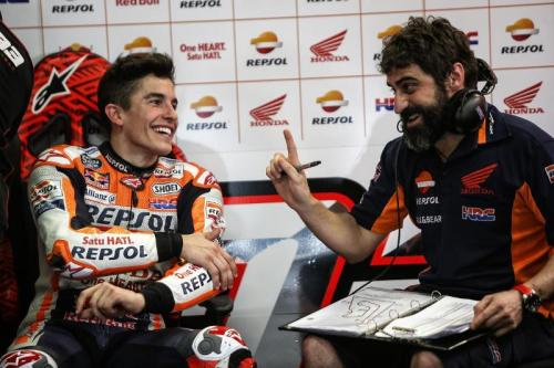 Santi Hernandez dan Marc Marquez sudah sejak lama berkolaborasi (Foto: MotoGP)