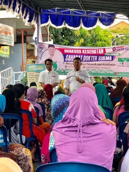 Kampanyekan Kesehatan, Caleg Perindo Ini Keliling Pelosok Kampung (foto: Syaiful Islam/Okezone)