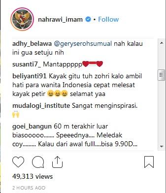 Komentar netizens di instagram Imam Nahrawi (Foto: Instagram/nahrawi_imam)