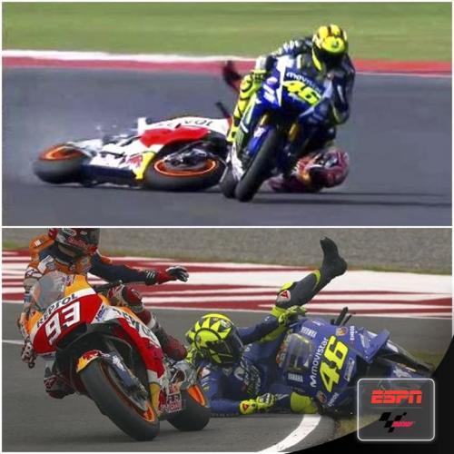 Valentino Rossi vs Marc Marquez (Foto: ESPN)