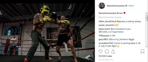 Conor McGregor latihan (Foto: Instagram/thenotoriousmma)