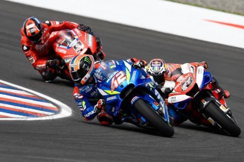 Alex Rins, Jack Miller dan Danilo Petrucci (Foto: MotoGP)