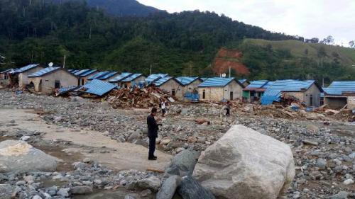 Banjir bandang Sentani. (Foto: Feby Novalius/Okezone)
