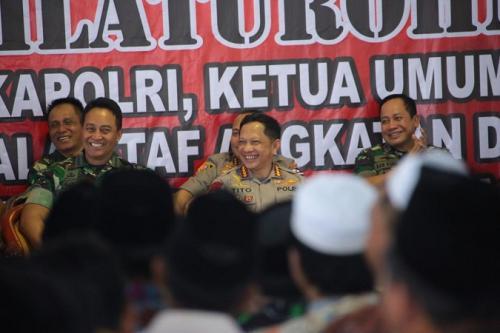 Kapolri Jenderal Tito Karnavian saat silaturahmi dengan tokoh agama di Pamekasan. (Ist)
