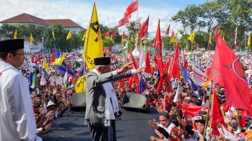Maruf Amin kampanye di Lombok Timur
