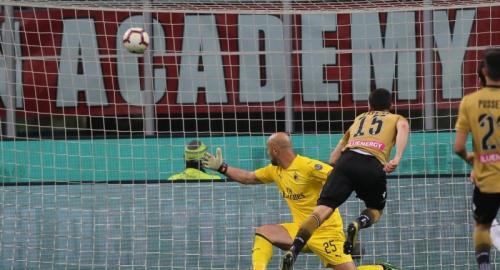 Kevin Lasagna membatalkan kemenangan AC Milan (Foto: Udinese/Twitter)