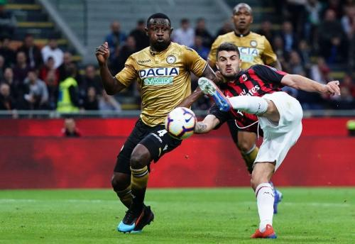 AC Milan vs Udinese (Foto: Laman resmi AC Milan)
